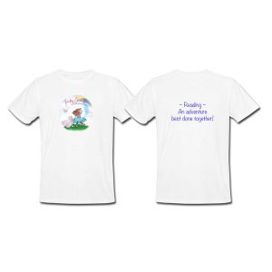 """Pinky Chenille's 2-sided """"Reading Adventure"""" Youth T-Shirt"""